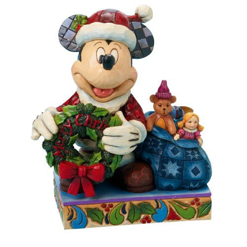 Enesco Resin Disney - Showcase Collection - Figure Mickey Mouse 'Merry Christmas To You'