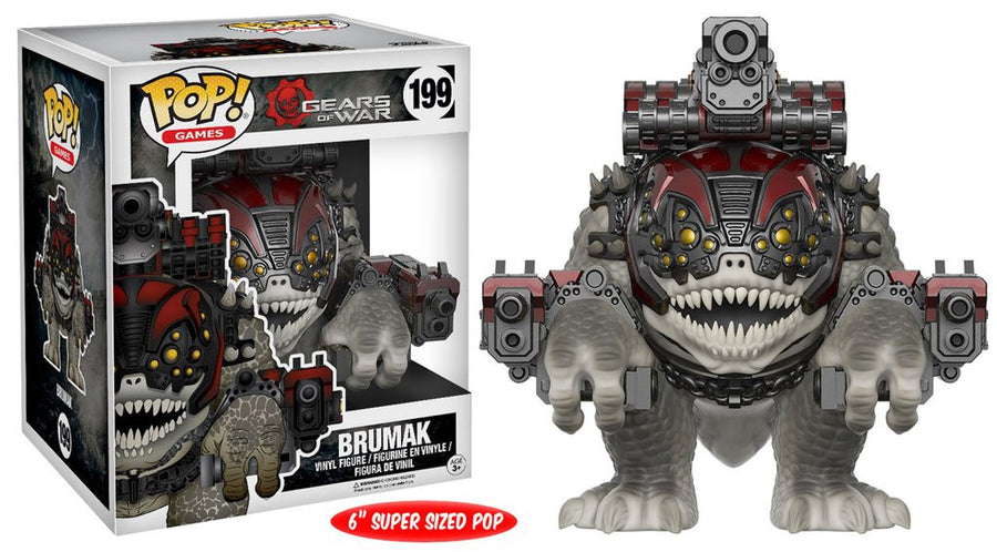 "Funko POP! Vinyl Games - Gears of War - Figure Brumak (6"" Super sized Pop)"