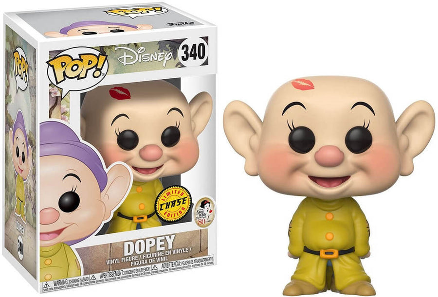 Funko POP! Disney - Snow White & The Seven Dwarfs - Vinyl Figure Dopey (340) CHASE