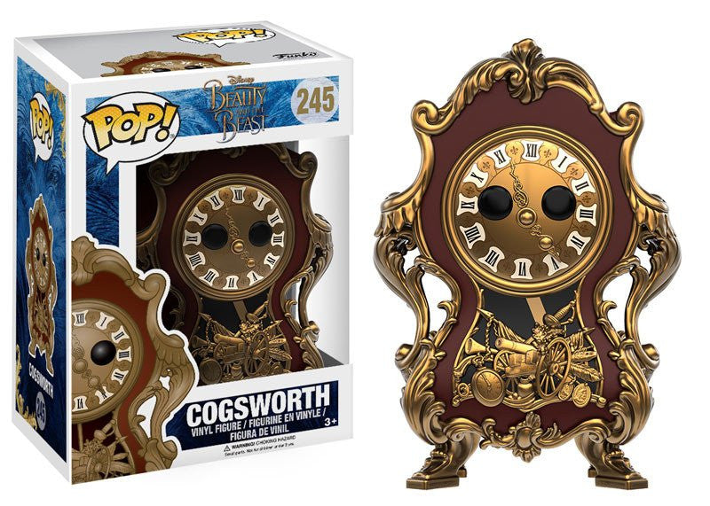 Funko POP! Vinyl Disney - Beauty and the Beast - Figure Cogsworth (Live Action) (245)