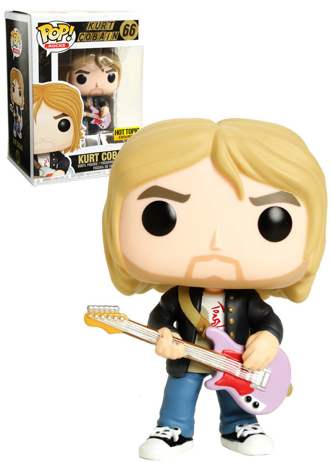 Funko POP! Rocks - Nirvana - Vinyl Figure Kurt Cobain (Black Sweater) (66) Exclusive