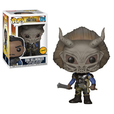 Funko POP! Marvel - Black Panther - Vinyl Figure Bobble-Head Erik Killmonger (278) - CHASE