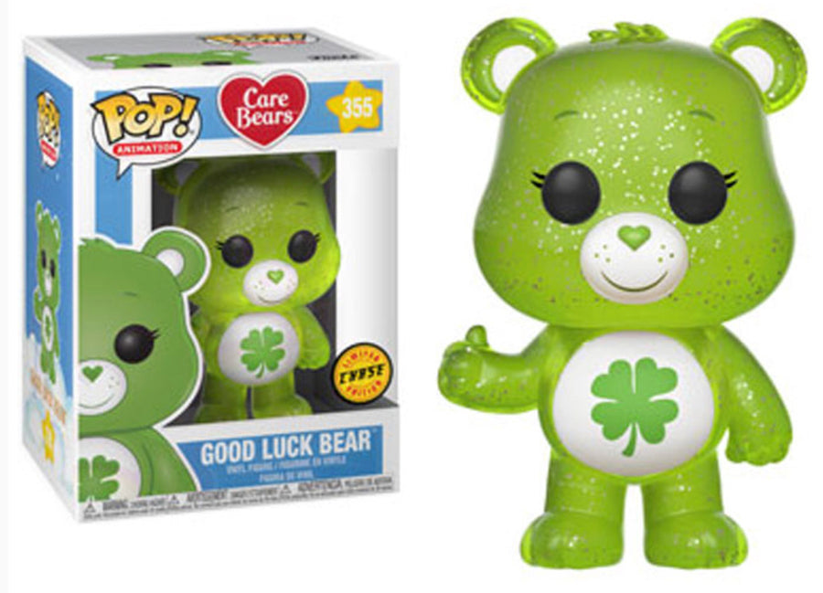 Funko POP! Animation - Care Bears - Vinyl Figure Good Luck Bear (Glitter) (355) CHASE