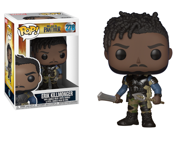 Funko POP! Marvel - Black Panther - Vinyl Figure Bobble-Head Erik Killmonger (278)