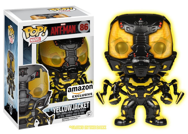 Funko POP! Vinyl Marvel - Ant-Man - Figure Yellow Jacket (Glows in the Dark)