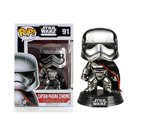 Funko POP! Vinyl Star Wars - Figure Bobble-Head Captain Phasma (Chrome) Exclusive