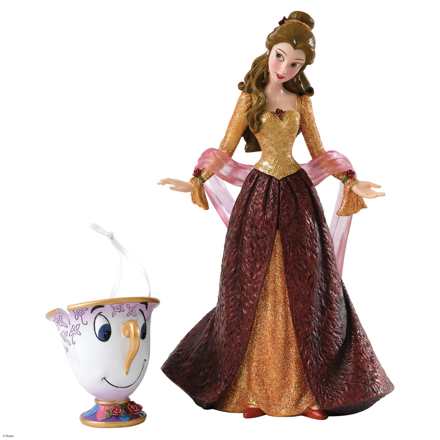 Enesco - Disney Showcase Collection - Haute Couture - Resin Figure Christmas Belle (Incl. Chip Hanging Ornament)