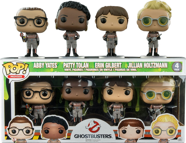 Funko POP! Movies - Ghostbusters - Vinyl Figures Abby Yates / Patty Tolan / Erin Gilbert / Jillian Holtzmann (4Pack)