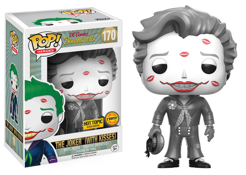 170 - Funko POP! Heroes - DC Comics Bombshells - Vinyl Figure The Joker (With Kisses) (B&W) (170) - CHASE