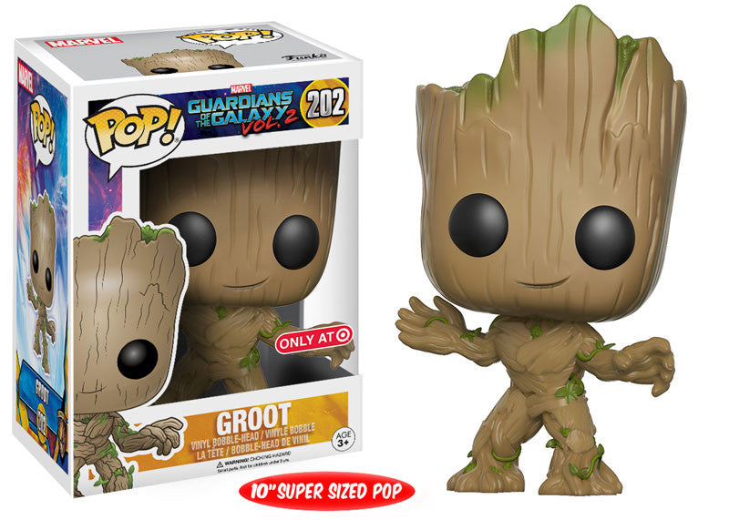 "Funko POP! Vinyl Marvel - Guardians of the Galaxy (Vol. 2) - Figure Bobble-Head Groot (10"") (Exclusive) (202)"