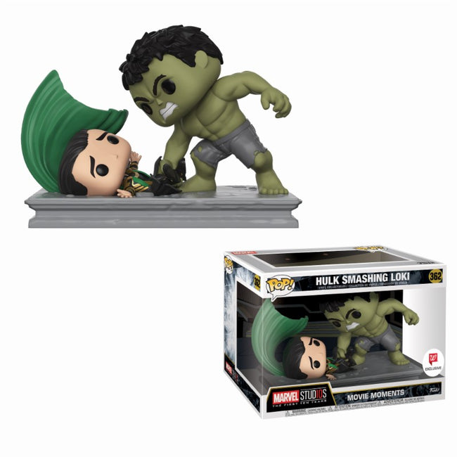 Funko Pop! Marvel - Movie Moments - Vinyl Figure Hulk smashing Loki (362) Exclusive