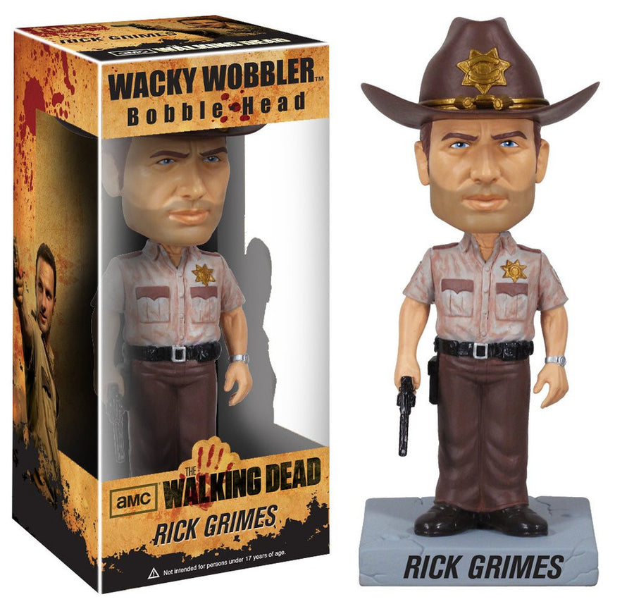 Funko Wacky Wobblers Bobble-Head Vinyl - The Walking Dead - Figure Rick Grimes