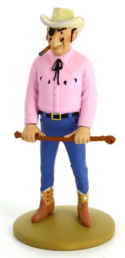 Moulinsart - Tintin - Figure Roberto Rastapopoulos holding a whip