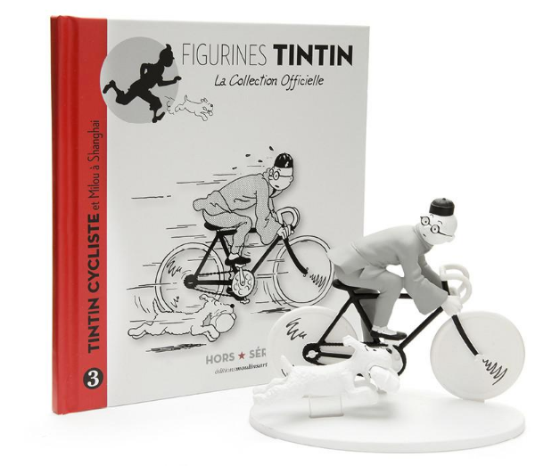 Moulinsart - Tintin - Off Serie - Figure Resin Tintin on a bicycle
