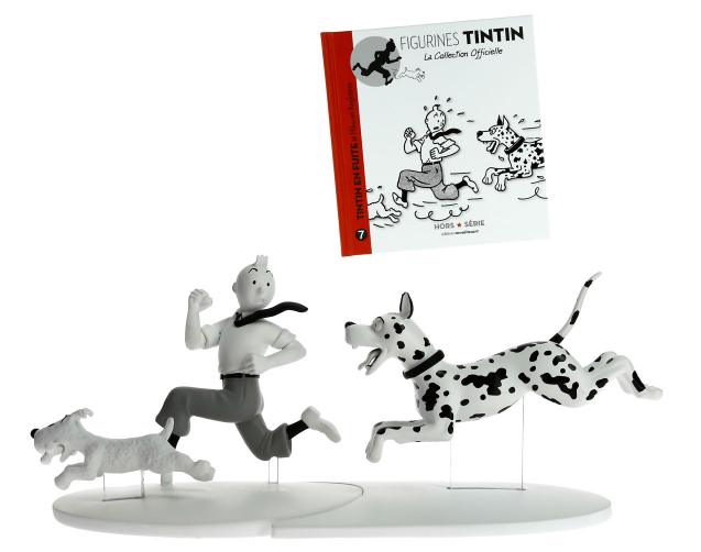 Moulinsart - Tintin - Off Serie - Figure Resin Tintin, Snowy and the Great Dane (nr. 07)