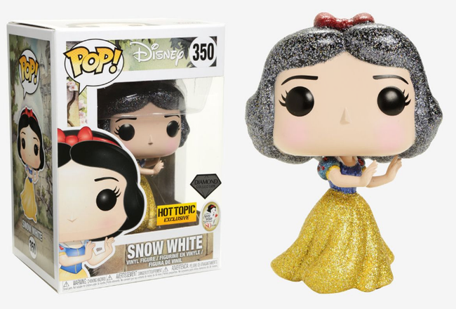 Funko POP! Disney - Snow White & The Seven Dwarfs - Vinyl Figure Snow White (Glitter) (Diamond Collection) (350) Exclusive