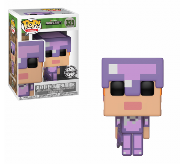 Funko POP! Games - Minecraft - Vinyl Figure Alex w/ Enchanted Armour (325) Exclusive