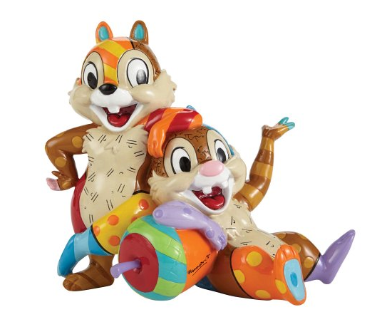 Britto - Disney, Donuld Duck - Resine Figure Chip & Dale