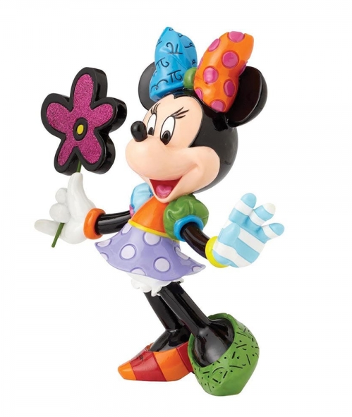 Britto - Disney, Mickey Mouse - Resine Figure Minnie Mouse with Flowers