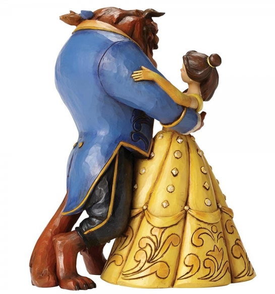 "Disney Traditions - Beauty & The Beast - Resin Figure Belle & Beast ""Moonlight Waltz"" (25th Anniversary)"