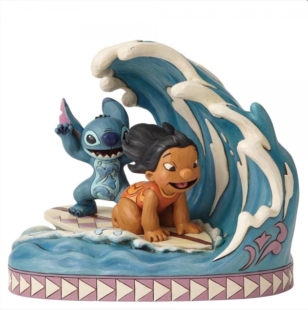"Disney Traditions - Lilo & Stitch - Resin Figure Lilo & Stitch ""Catch the Wave"""