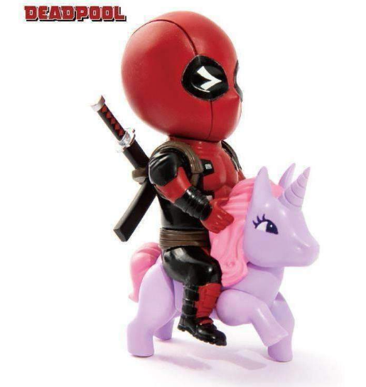 Beast Kingdom Toys - Mini Egg Attack Series - Deadpool on Unicorn