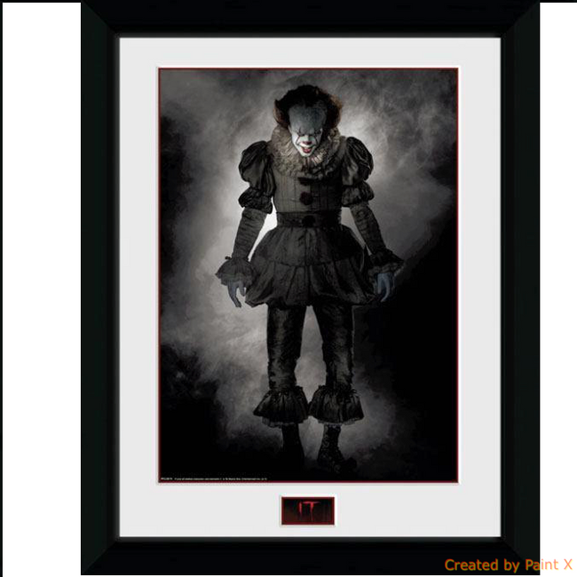 Framed Poster - It - Pennywise (Stand) (45 x 34 cm)