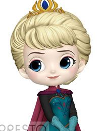 Disney - Q Posket Mini Figure - Frozen - Pvc Figure Elsa (Normal Color Version)