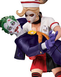 DC Collectibles - Bombshells - Resin Figure The Joker & Harley Quinn (2nd Edition)