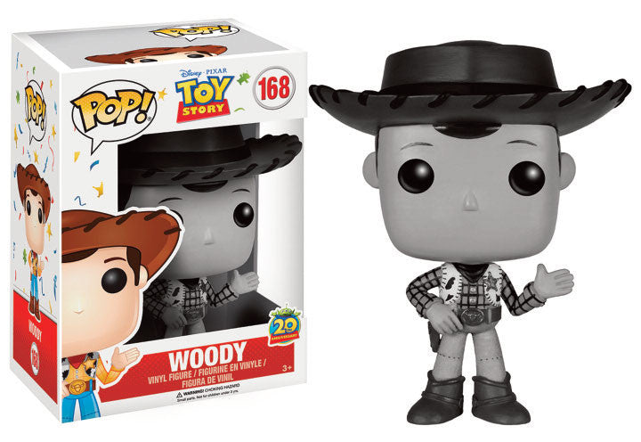 Funko POP! Vinyl Disney - Toy Story- Figure Woody (Black & White) - Limited edition 20th Anniversary (168)