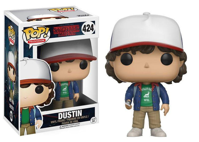 Funko POP! Television - Stranger Things - Vinyl Figure Dustin with compass (Blue Jacket) (424)