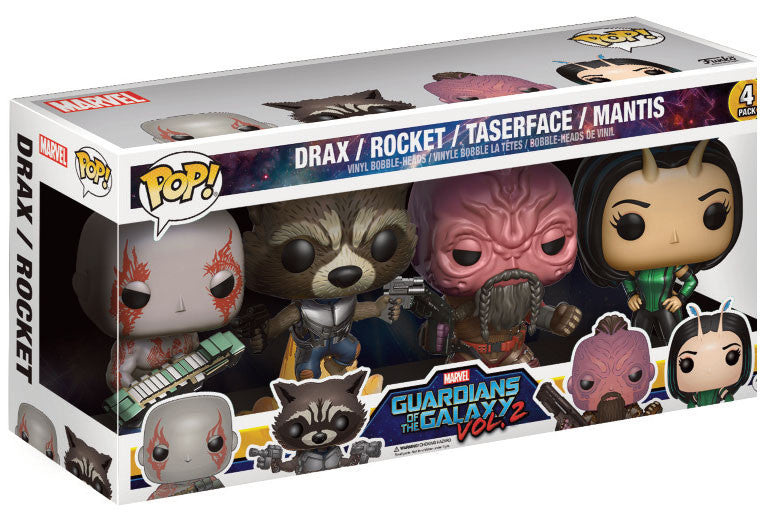 Funko Pop! Vinyl Marvel - Guardians of the Galaxy (Vol. 2) - Figures Bobble-Heads Drax / Rocket / Taserface / Mantis (4-Pack)