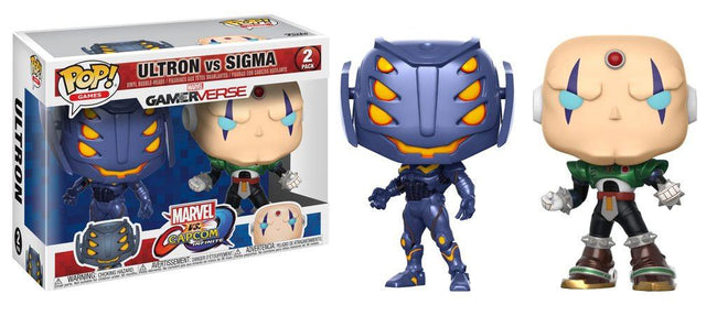 Funko POP! Games - Marvel vs Capcom Infinite - Vinyl Figure Bobble-Heads Ultron vs Sigma (2 Pack)