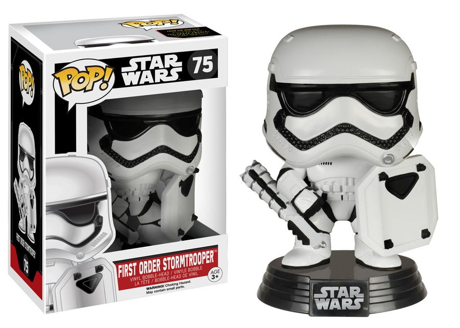 Funko POP! Star Wars The Force Awakens - Vinyl Figure Bobble-Head First Order Stormtrooper (Shield) (Exclusive) (75)