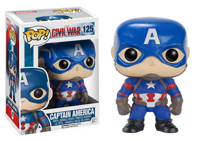 Funko POP! Marvel - Captain America - Vinyl Figure Bobble-Head Captain America (125)