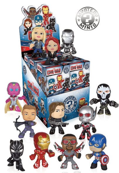 Funko Mystery Minis - Civil War, Captain America - Random selected