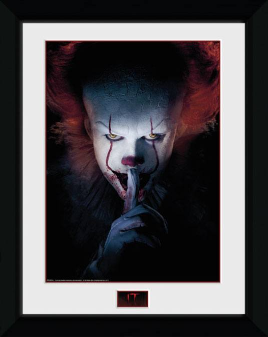 Framed Poster - It - Pennywise (Finger) (45 x 34 cm)