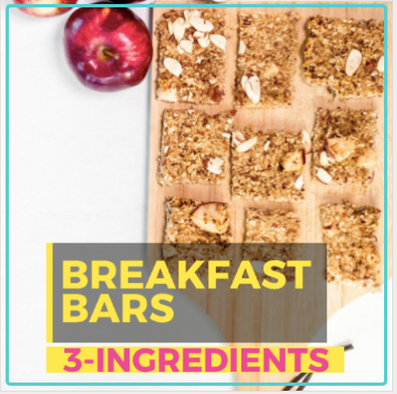 3-INGREDIENT BREAKFAST BARS! NO BAKE! MADE WITH COLLAGEN PROTEIN