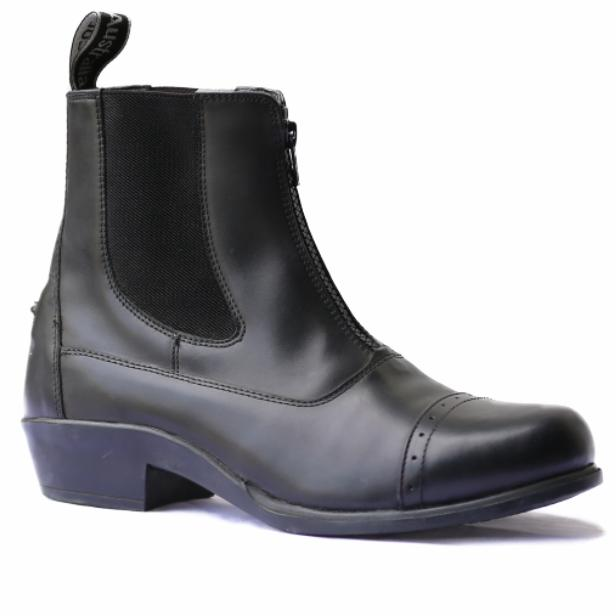 Leather Zip Riding Boots-Ascot Equestrian