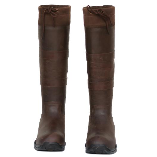 Brown Leather Long Boot-Ascot Equestrian