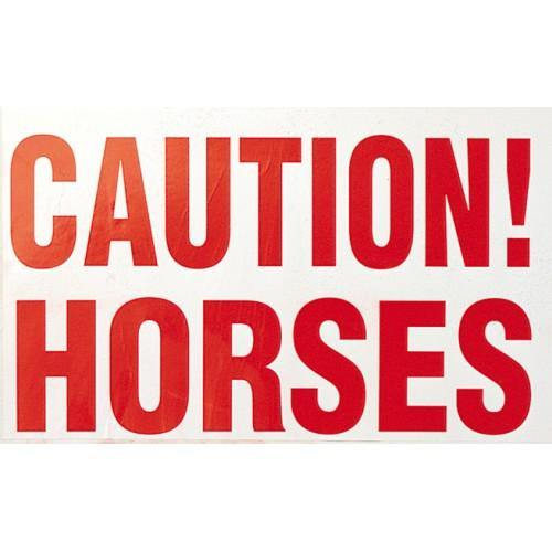 Caution Horses Sticker-STC