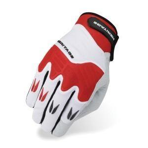 Heritage Polo Pro Gloves - White/Red-Heritage