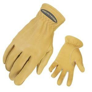 Heritage Deerskin Trail Gloves - Tan-Heritage