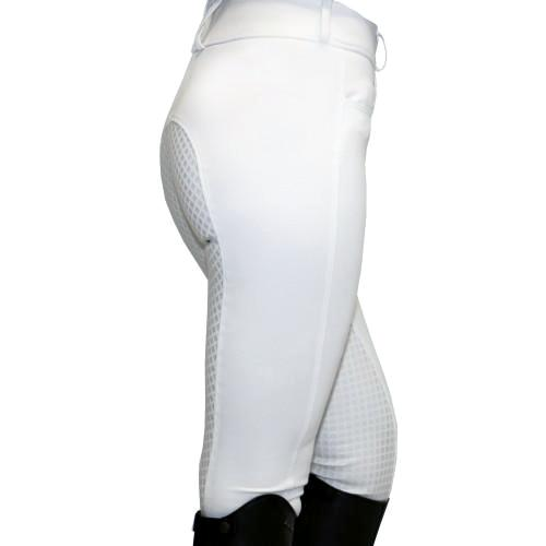 High-Waisted Breeches with Gel Seat White-Huntington