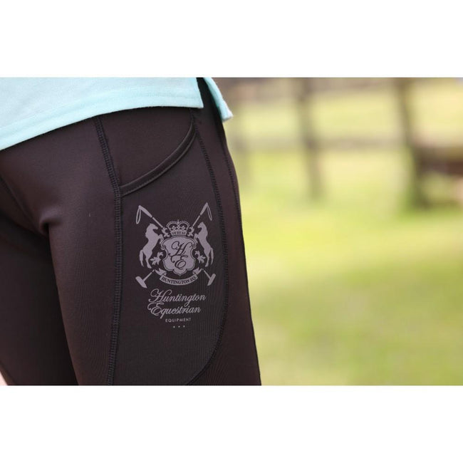 Lycra Stretch Active Jodhpurs - Black-Huntington