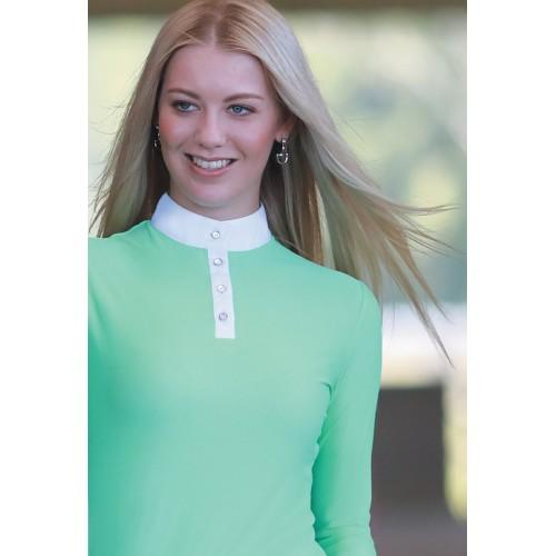 Equestrian Show Shirt - Long Sleeve Mint-Huntington