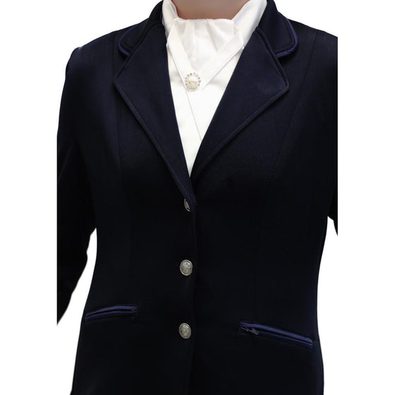 Double Vent All Rounder Show Jacket Navy-Huntington