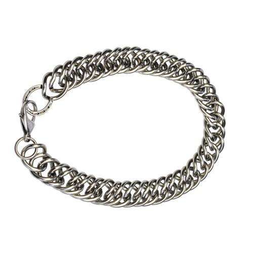 Rubin Ross Curb Chain Necklace Silver-STC