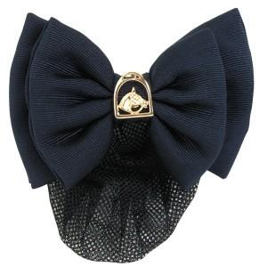 Show Bow Navy Twill w/Gold Horsehead in Stirrup-Hawthorne