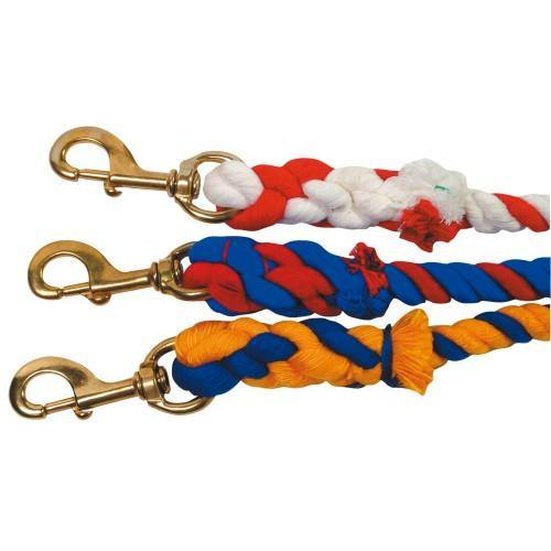 "3/4"" Cotton Two-Tone Lead Rope - 10'-STC"